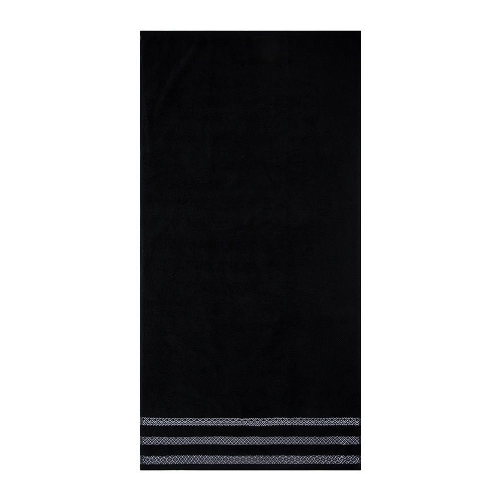 A by AMARA - Black Stripe Towel - Bath Sheet