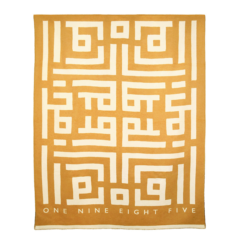One Nine Eight Five - Labyrinth Throw - 160x190cm - Gold