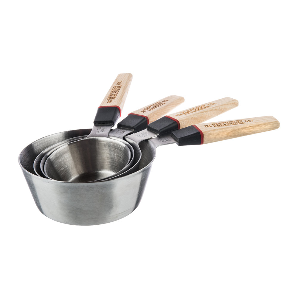 The Bakehouse & Co - Ash Wood Measuring Cups - Set of 4