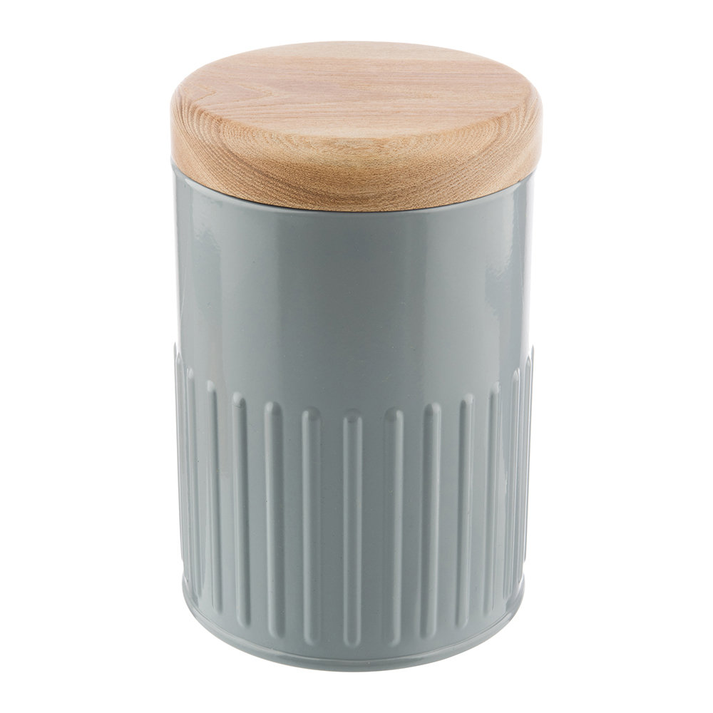 The Bakehouse  Co - Grey Steel Storage Canister - 17cm