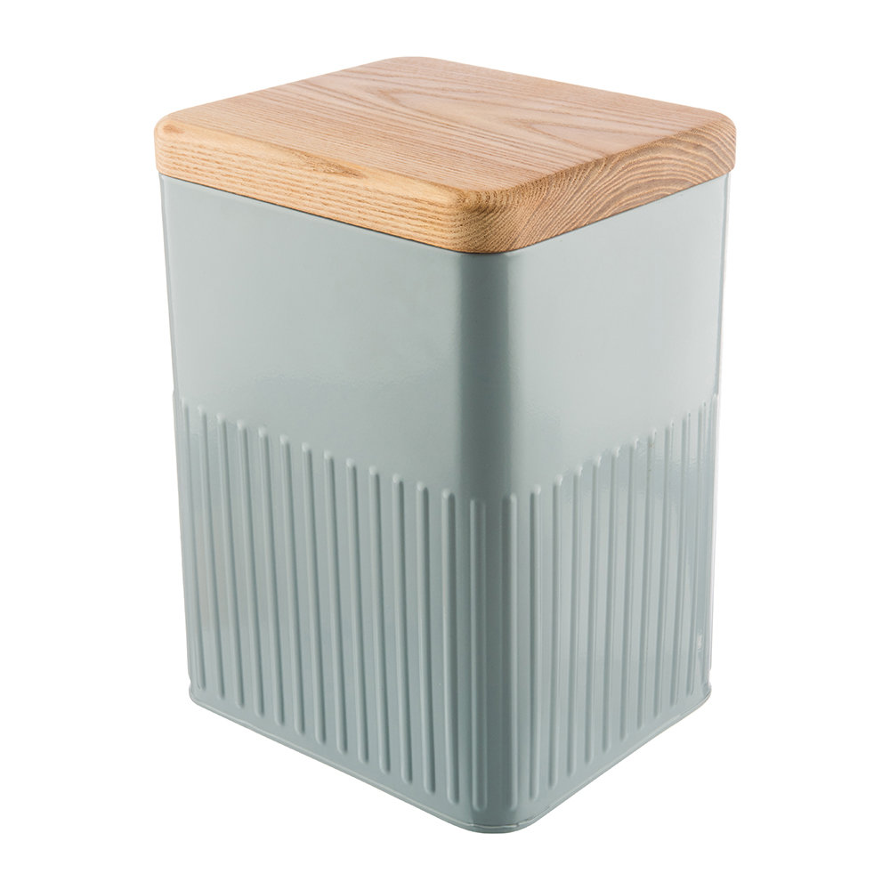 The Bakehouse  Co - Grey Steel Storage Canister - 26cm