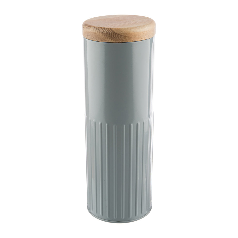 The Bakehouse  Co - Grey Steel Storage Canister - 32cm