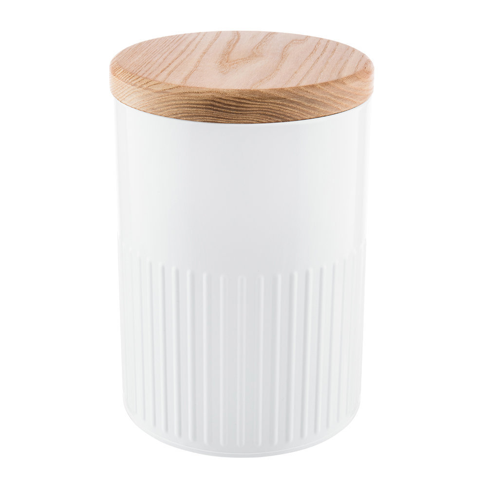 The Bakehouse  Co - White Steel Storage Canister - 26cm