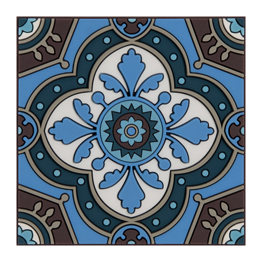 Images d'Orient - Set of 6 Coasters - Sejjadeh Azur