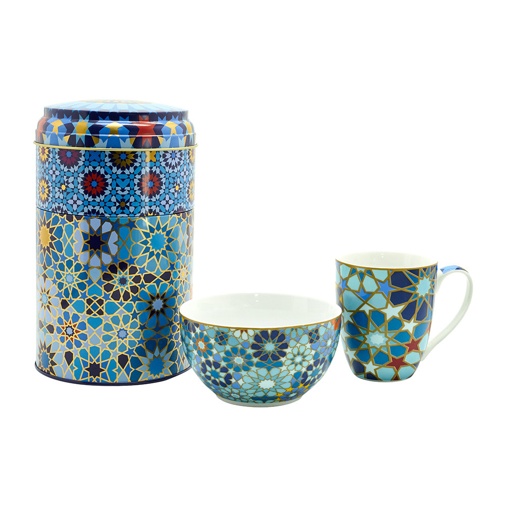 Images d'Orient - Mug and Bowl Box Set - Moucharabieh Blue