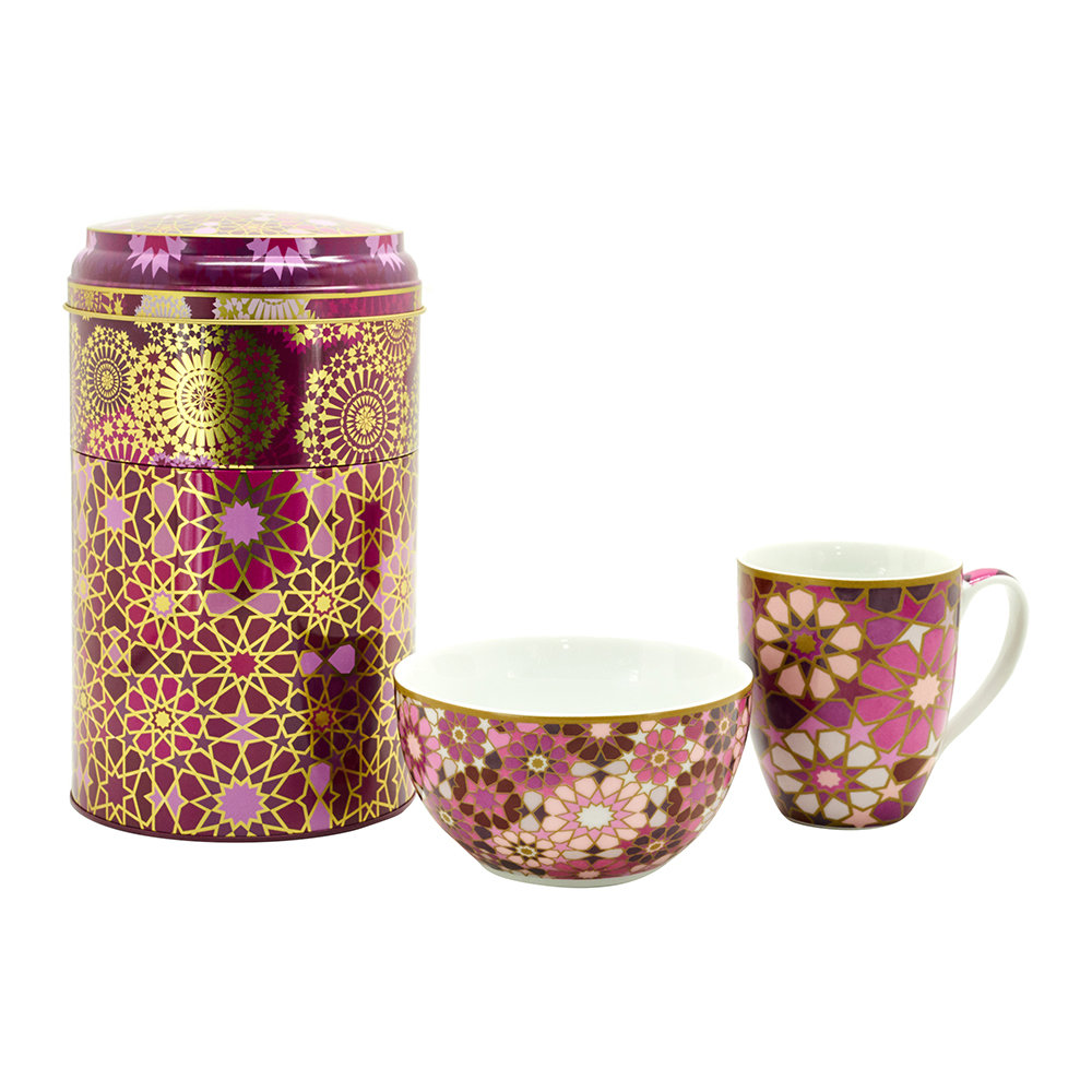 Images d'Orient - Mug and Bowl Box Set - Moucharabieh Parme