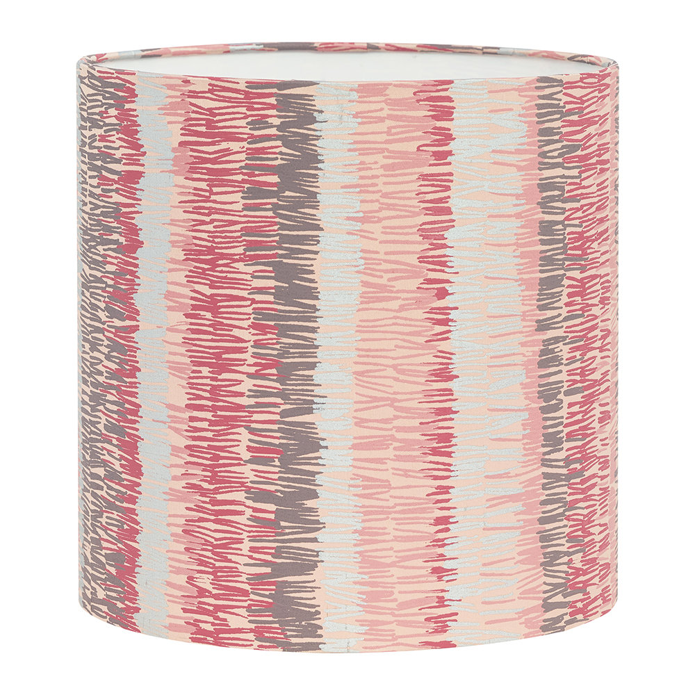 Clarissa Hulse - Textured Stripe Lamp Shade - Oyster - Small