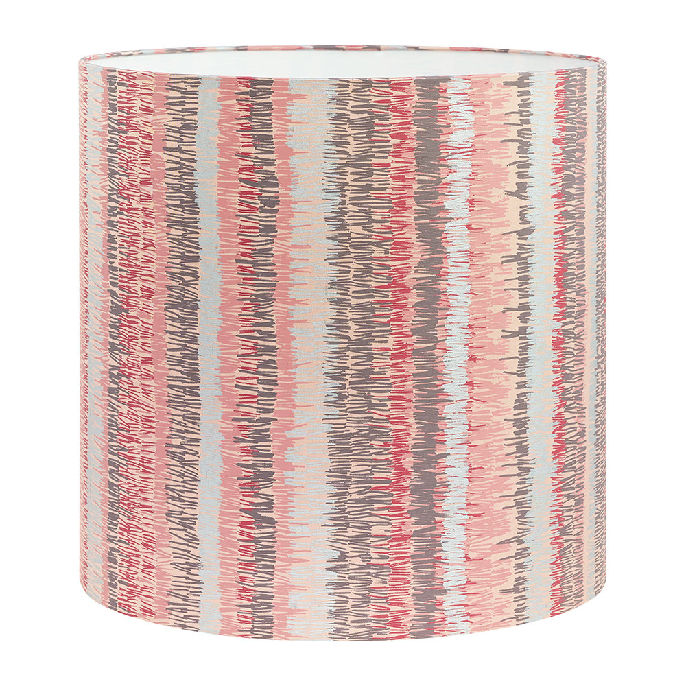 Clarissa Hulse - Textured Stripe Lamp Shade - Oyster - Large