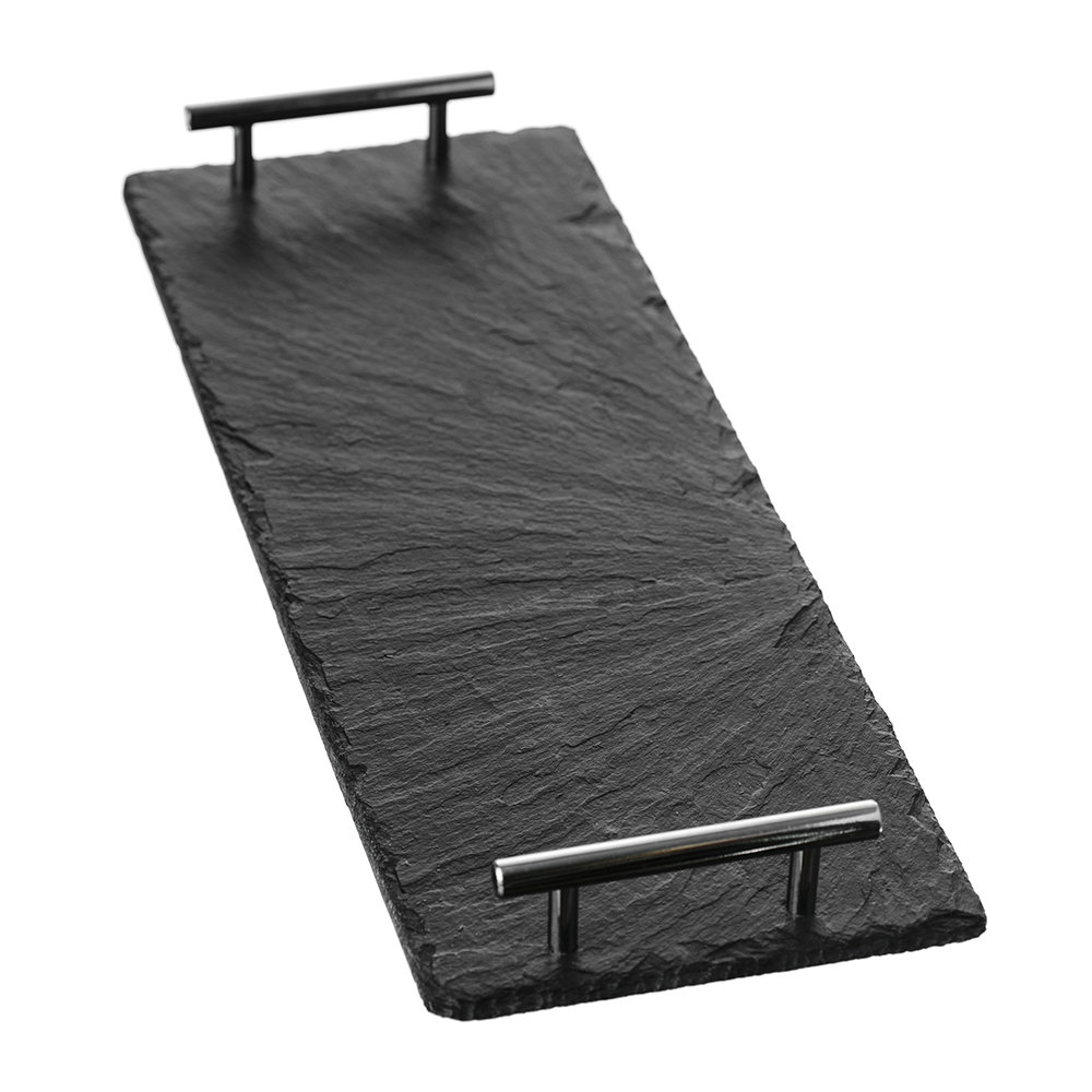The Just Slate Company - Serving Tray with Tube Handles - Large