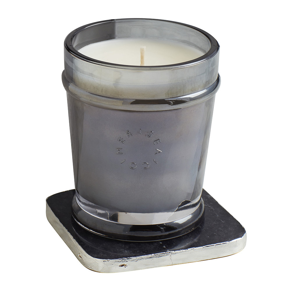 Mer Sea - Luxe Quartz Scented Candle - Amber Fumée