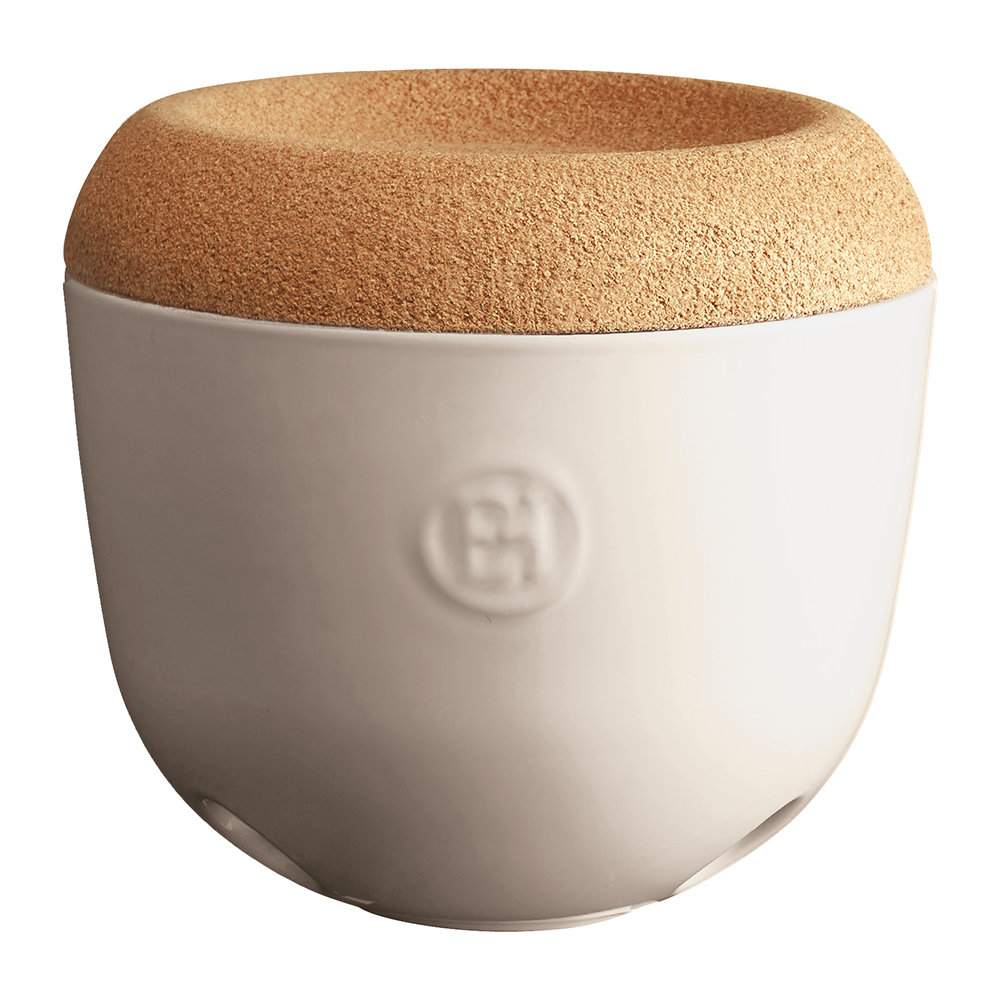 Emile Henry - Garlic Pot with Cork Lid - Clay