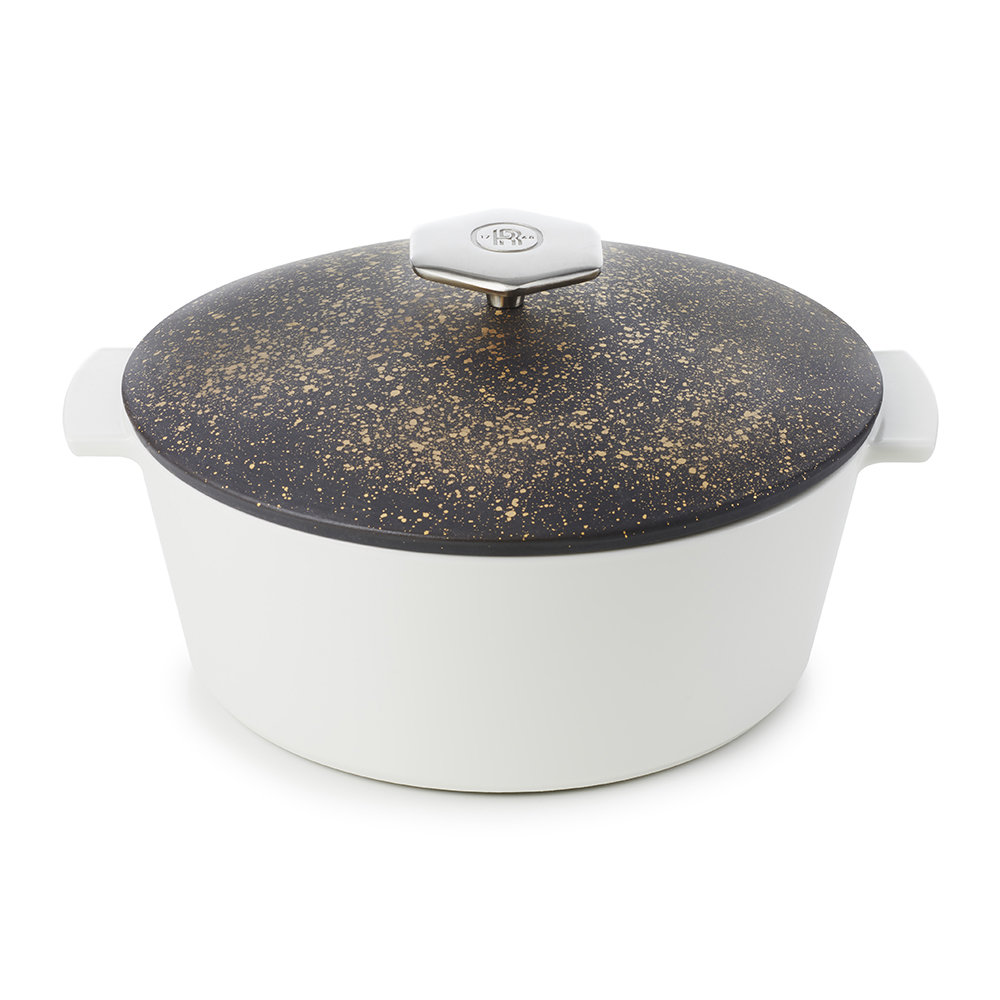 Revol - Cosmos Gold Round Cocotte - 26cm