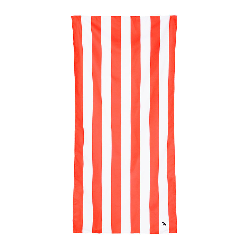 Dock  Bay - Cabana Beach Towel - Waikiki Coral Red