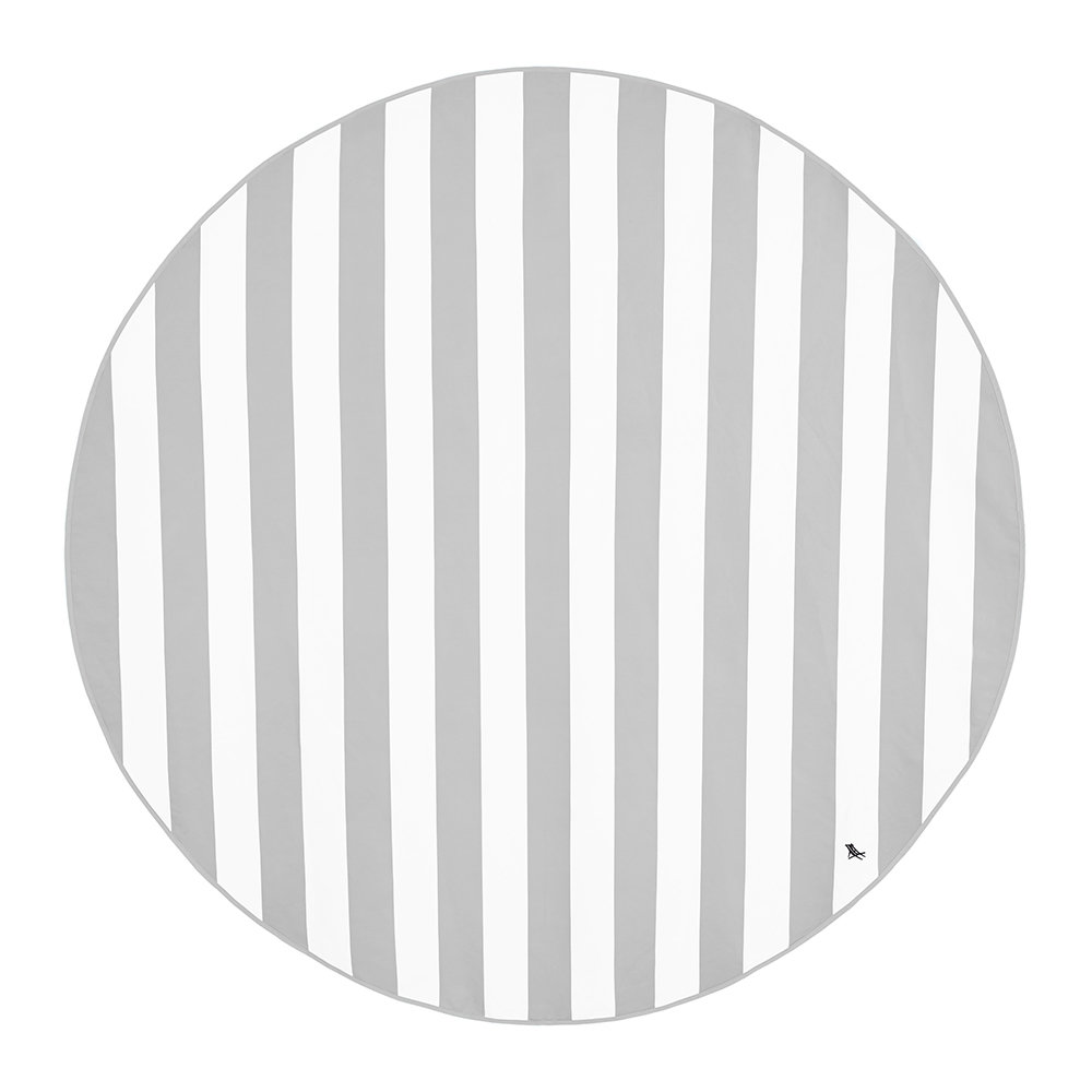Dock & Bay - Cabana Round Beach Towel - Goa Grey
