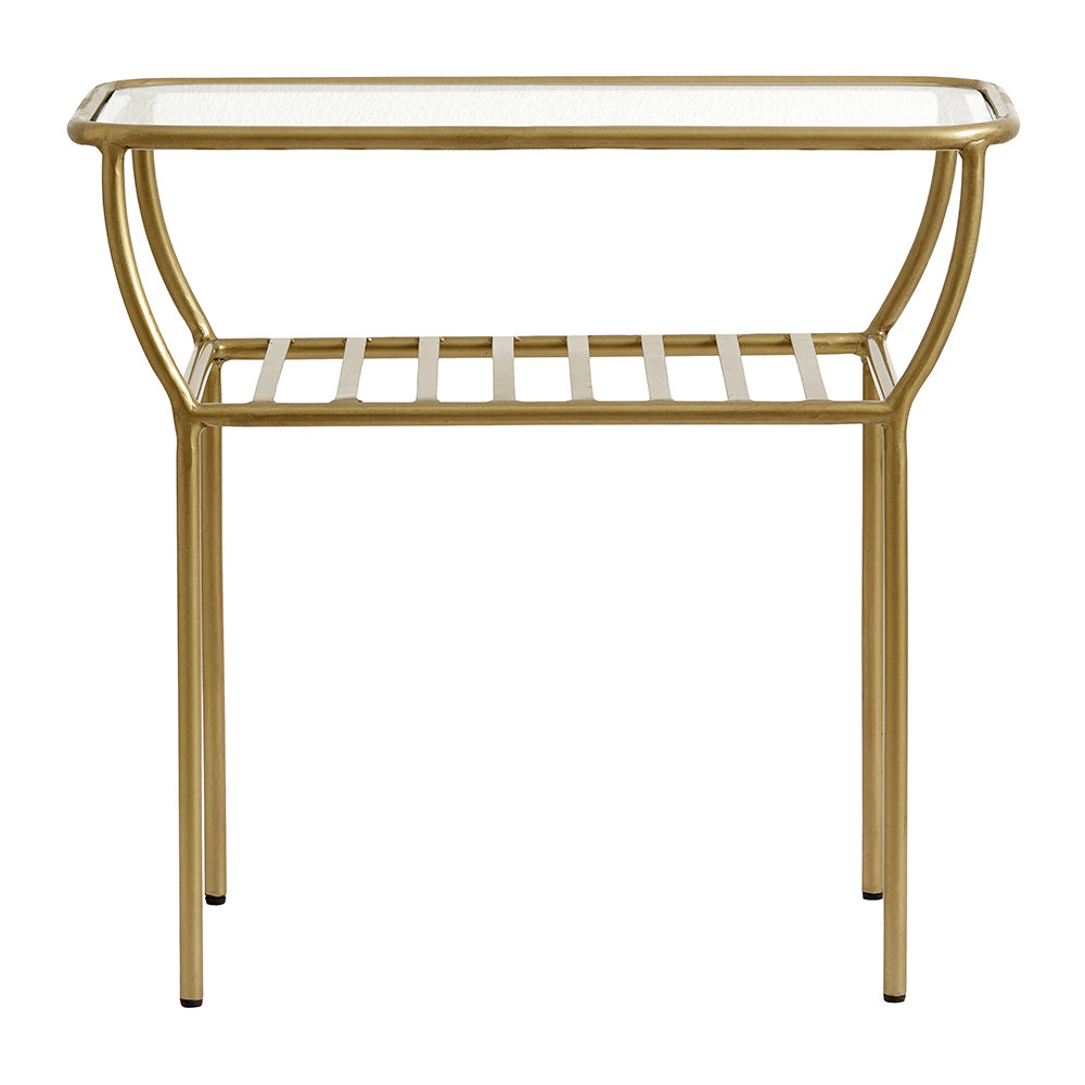 Nordal - Glass Side Table - Gold