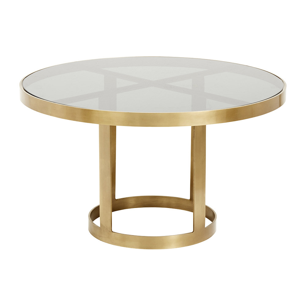 Buy Nordal Round Coffee Table Gold Black Amara