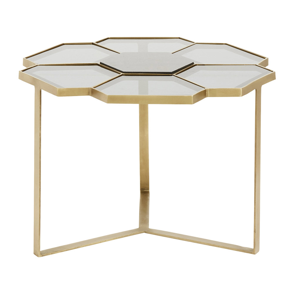Nordal - Flower Coffee Table - Gold/Black - Small