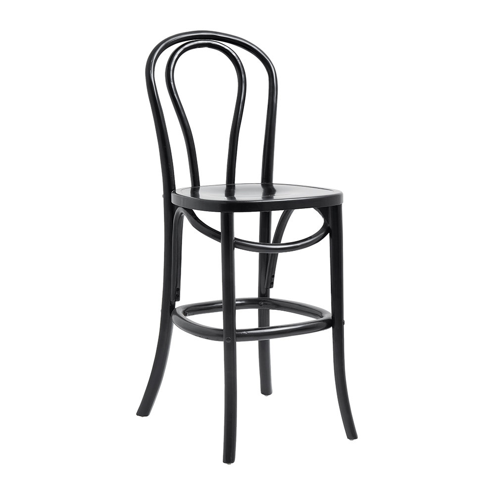 Nordal - Bistro Bar Chair - Shiny Black