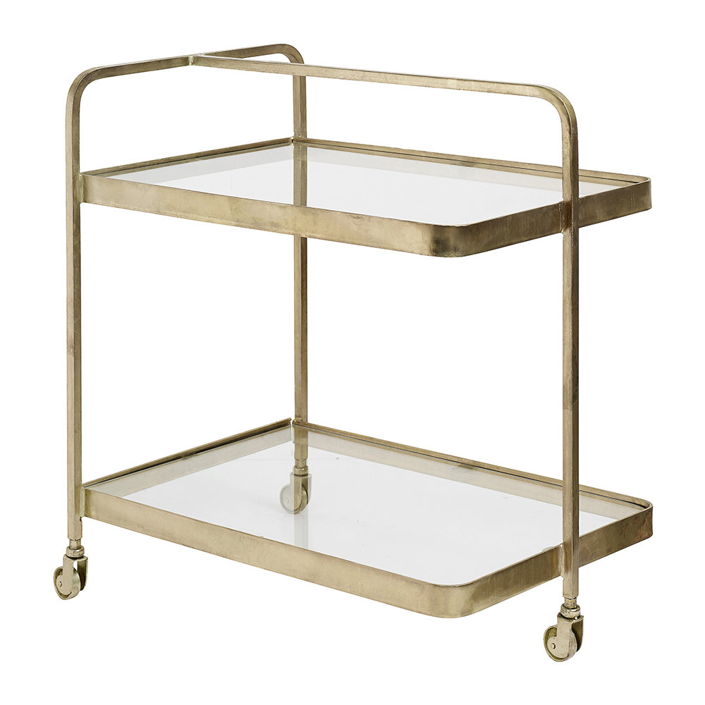 Nordal - Rectangle Trolley - Brass