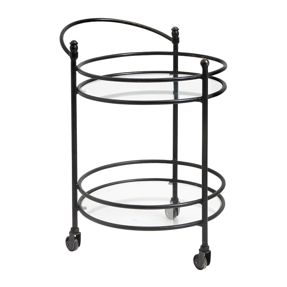 Nordal - Round Trolley with Handle - Black