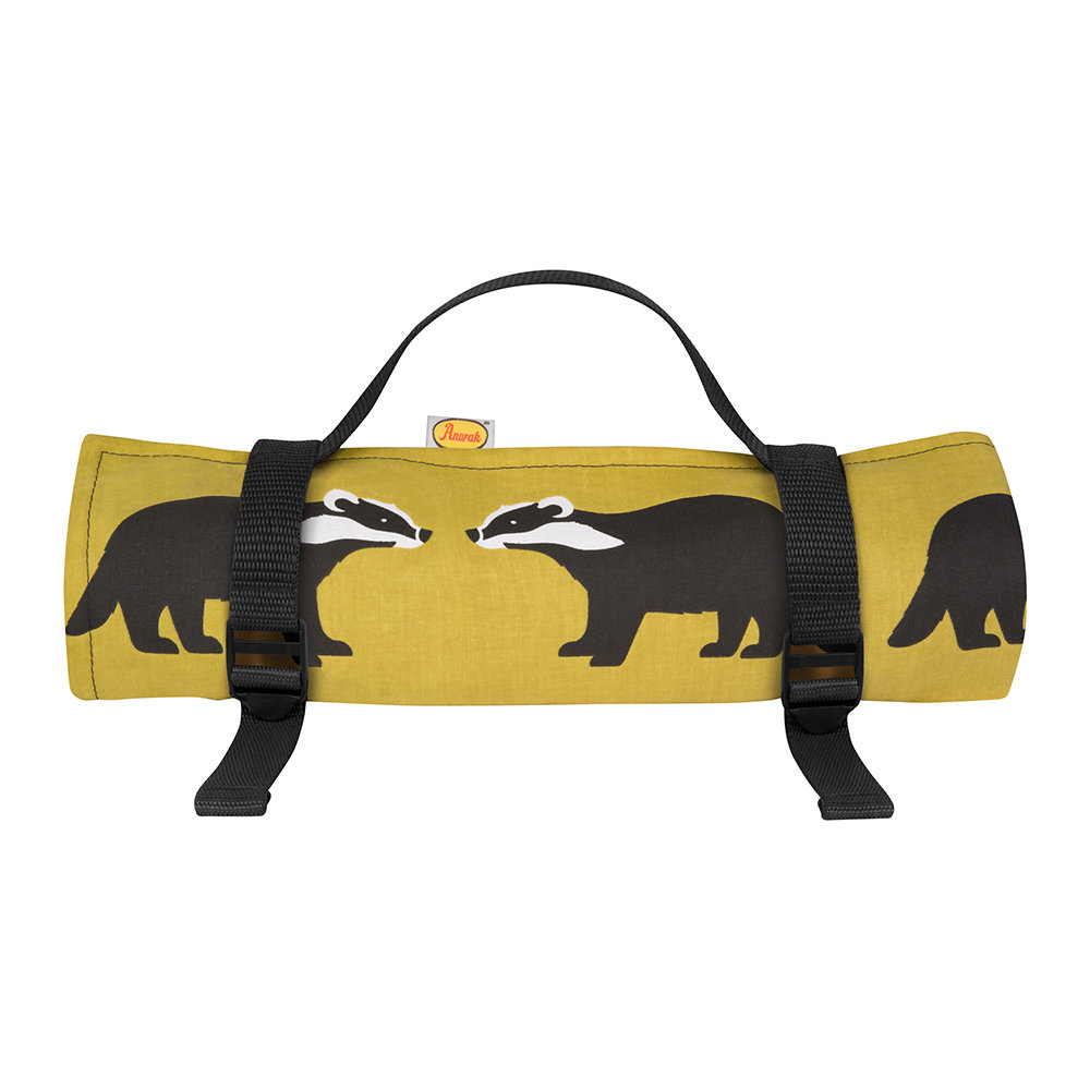 Anorak - Kissing Badgers Picnic Blanket