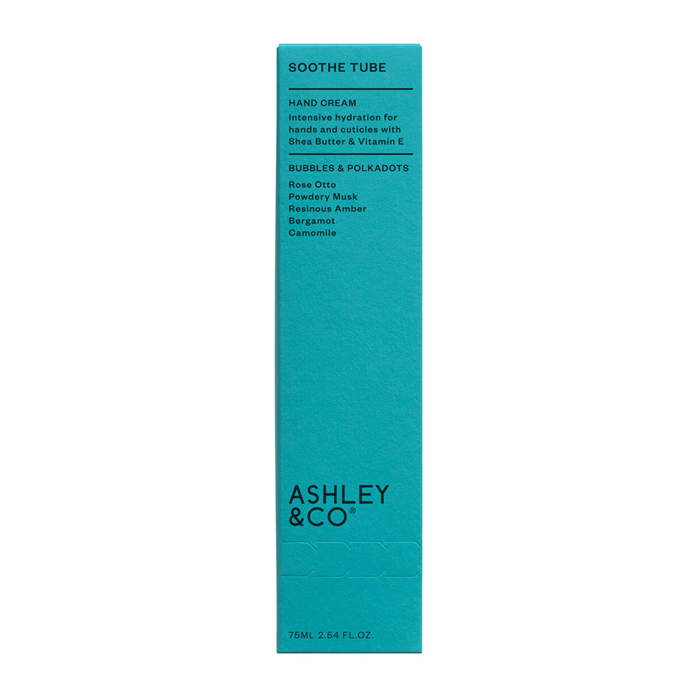 Ashley & Co - Soothe Tube Hand Cream - 75g - Bubbles and Polkadots