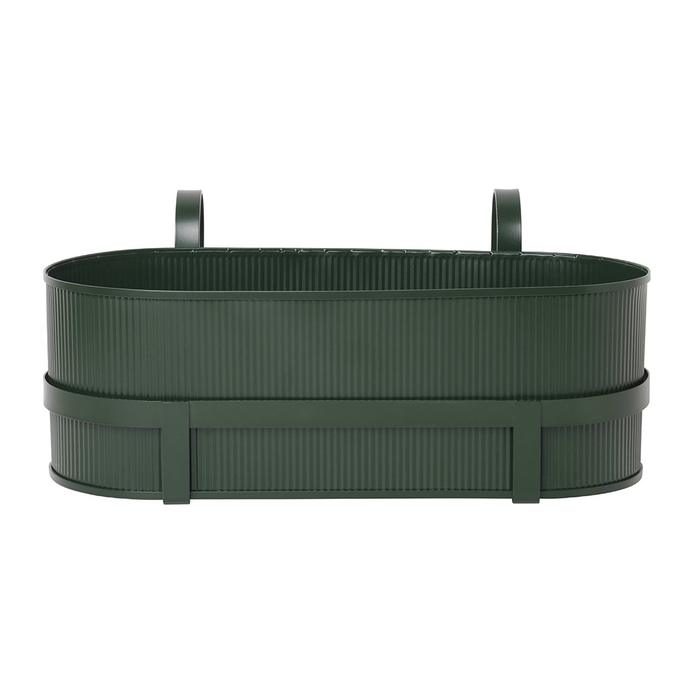 Ferm Living - Bau Balcony Plant Box - Dark Green