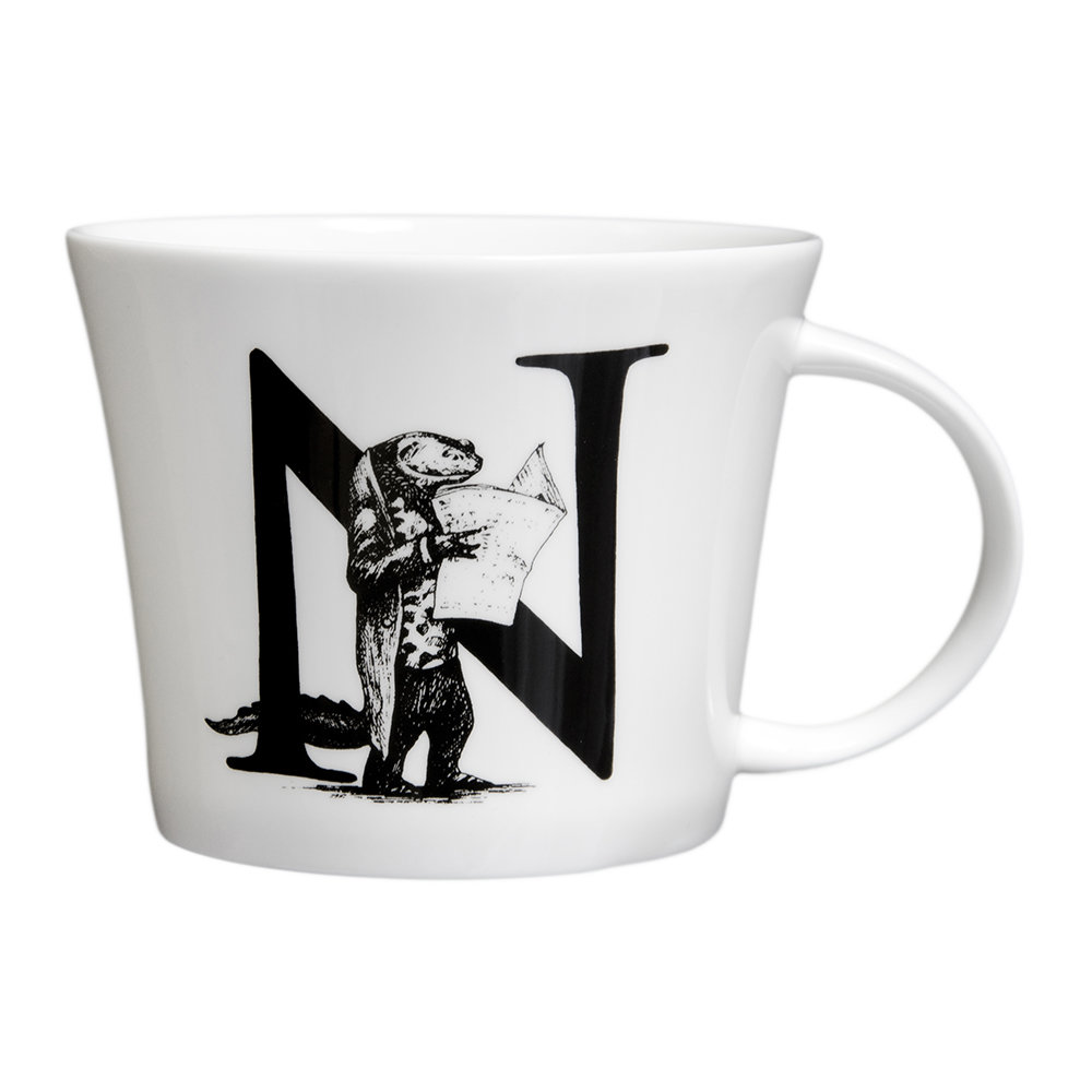 Rory Dobner - Mighty Mugs - N - Newt with Newspaper