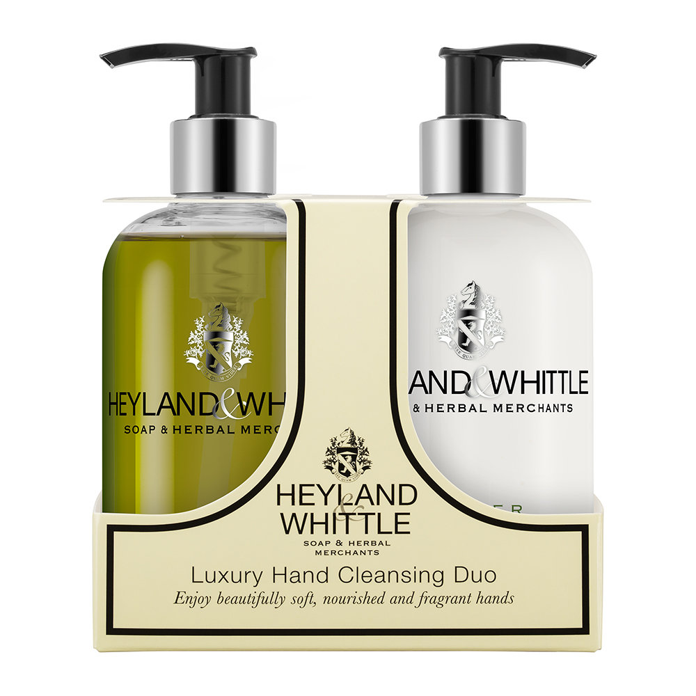 Heyland  Whittle - Amber Oakmoss Liquid Soap  Hand Cream Set