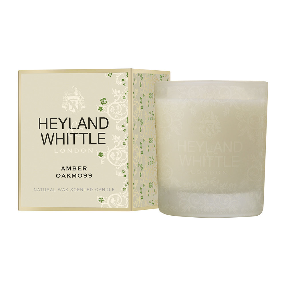 Heyland  Whittle - Gold Classic Scented Candle - 230g - Amber Oakmoss