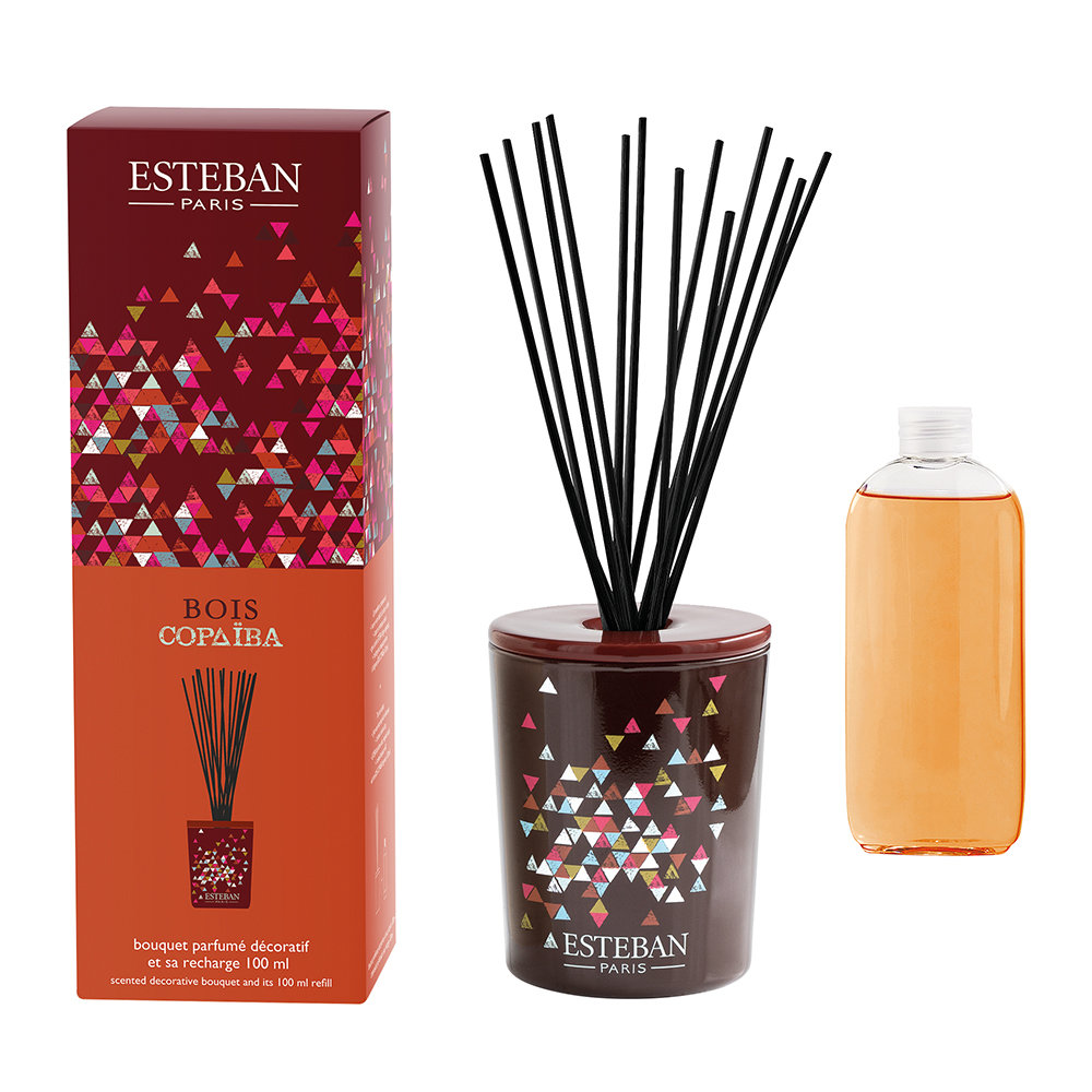 Esteban Paris Parfums - Decorative Bouquet Reed Diffuser - 100ml - Bois Copaiba