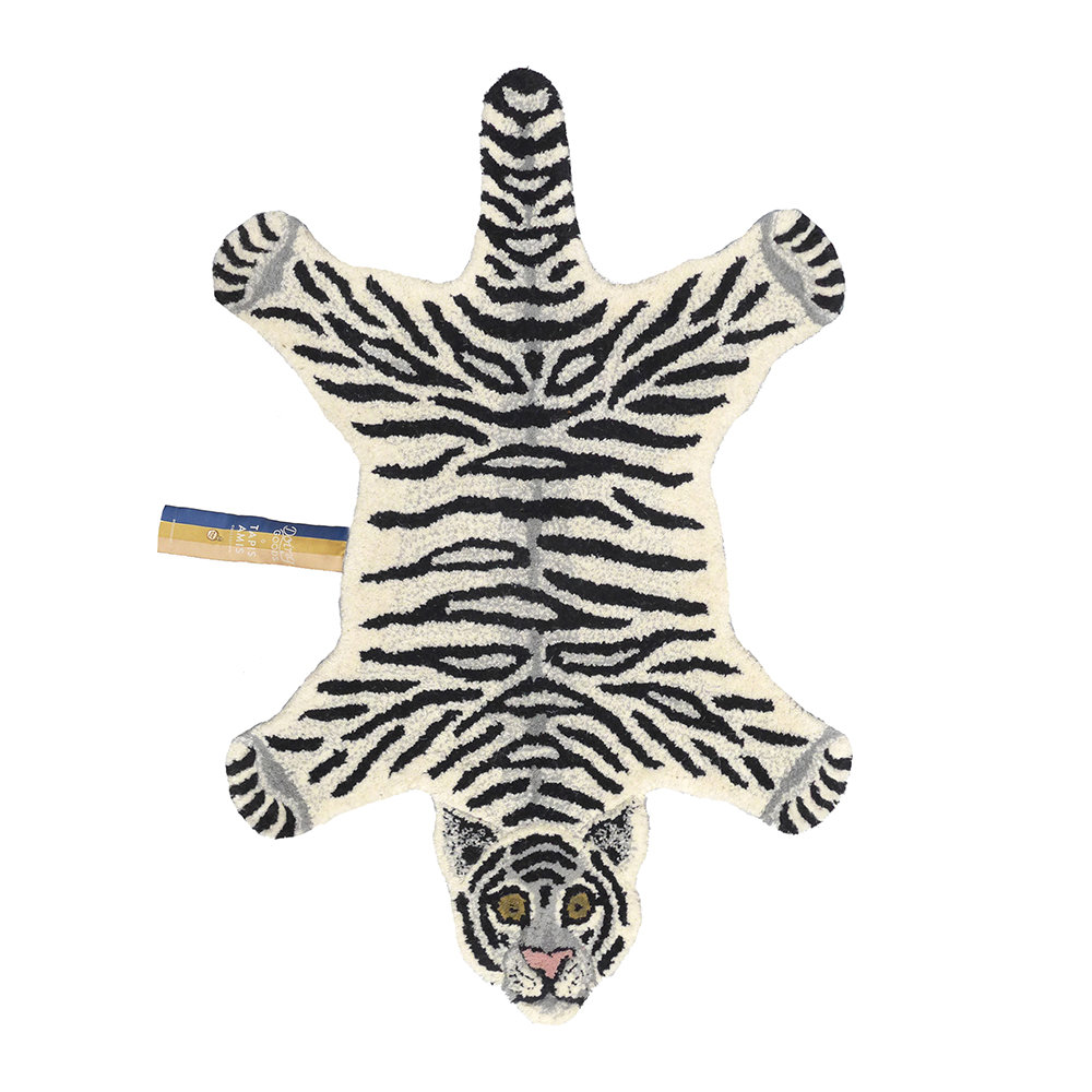 Buy Doing Goods Snowy Tiger Rug - Off White - Small