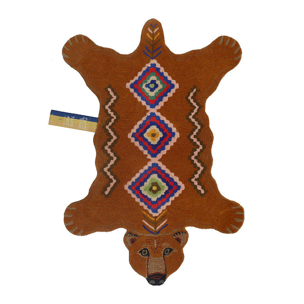 Doing Goods - Tapis grizzly berbère - Marron - Grand