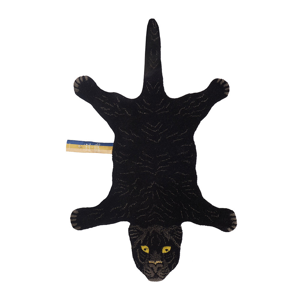 Doing Goods - Fiery Black Panther Rug - Small
