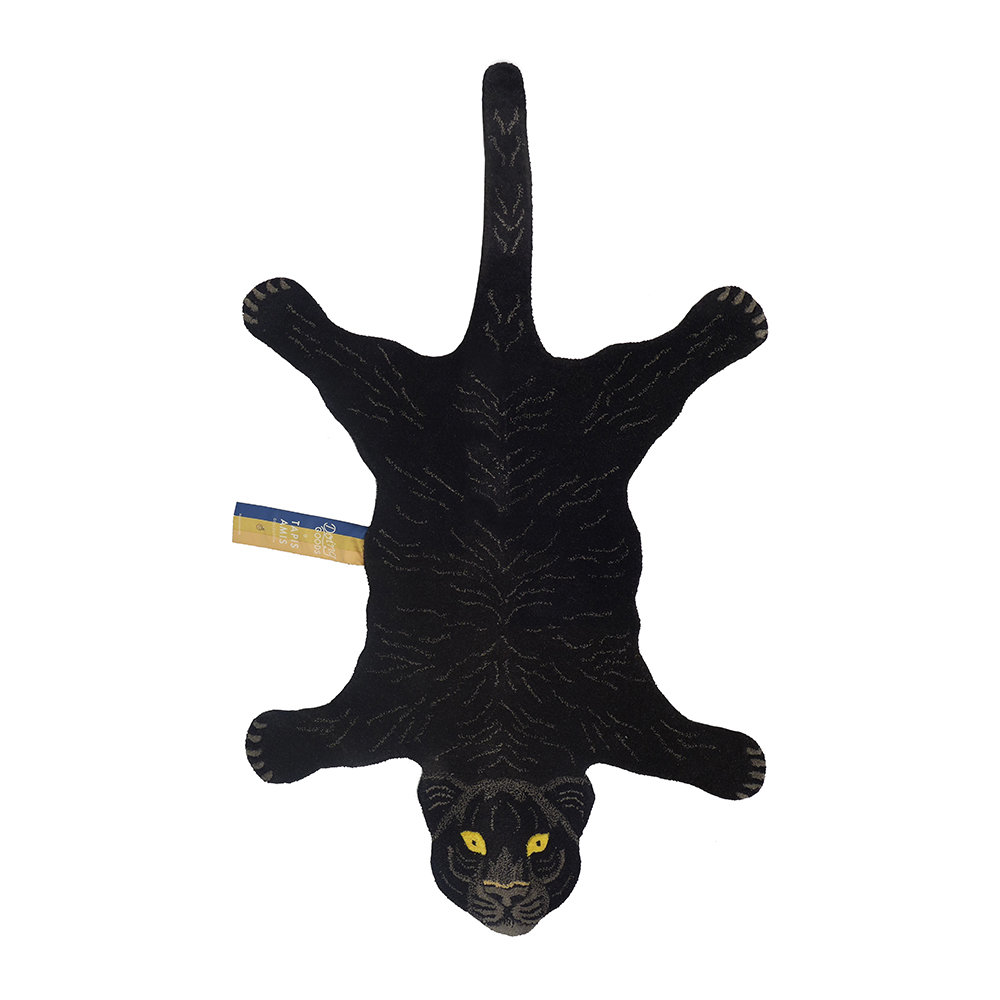 Doing Goods - Fiery Black Panther Rug - Large