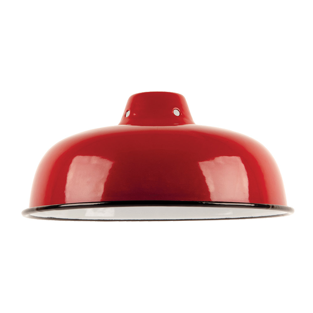 Ian Snow - Enameled Lampshade - Red