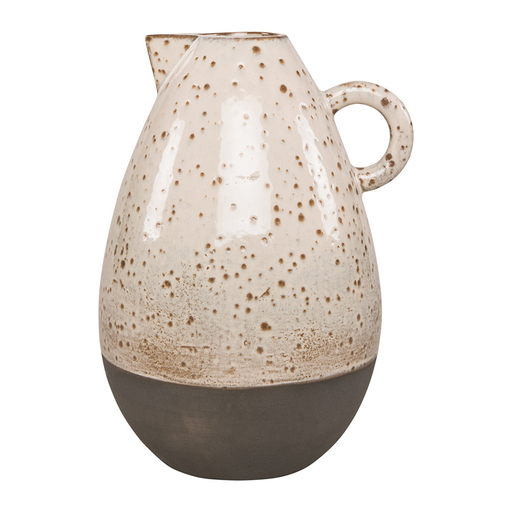 Ian Snow - Earthenware Decorative Jug - Fizzy White