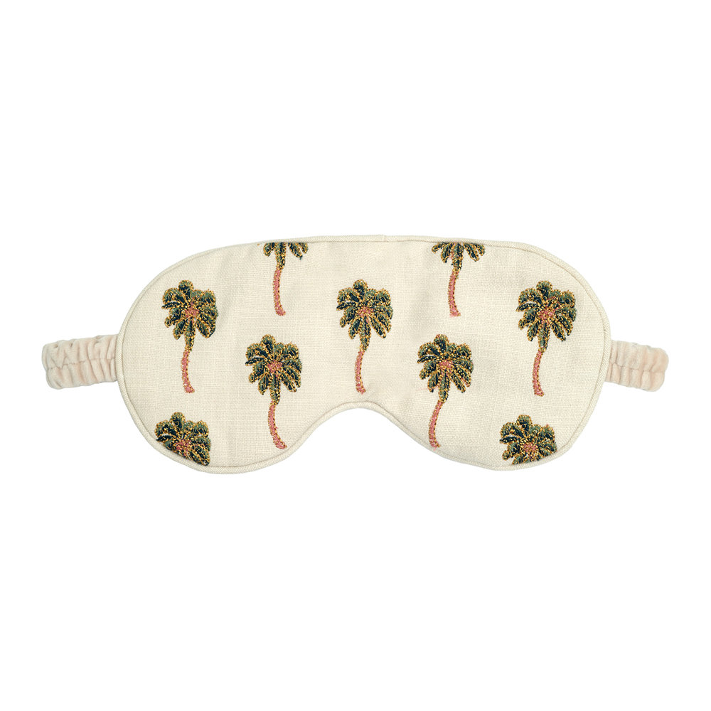 Elizabeth Scarlett - African Palmier Eye Mask with Drawstring Bag