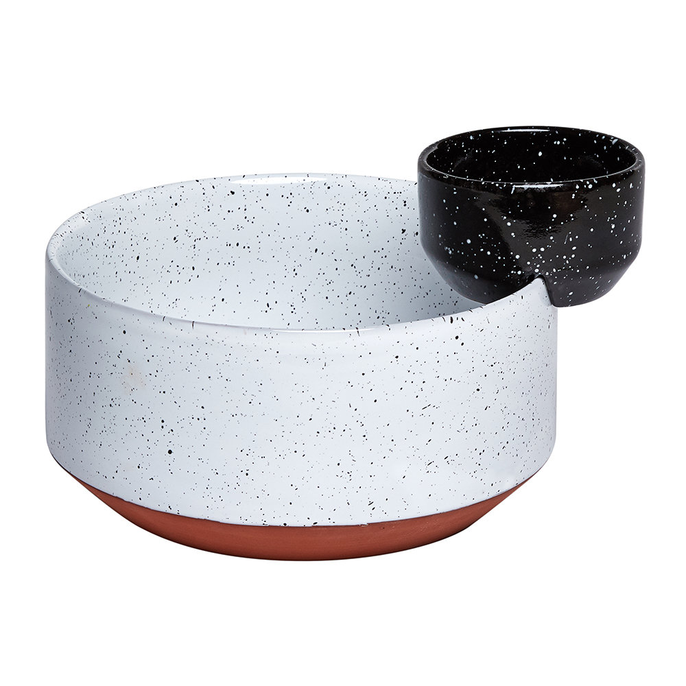 DOIY - Eclipse Serving Bowl - Black/White - Salad and Sauce Bowls