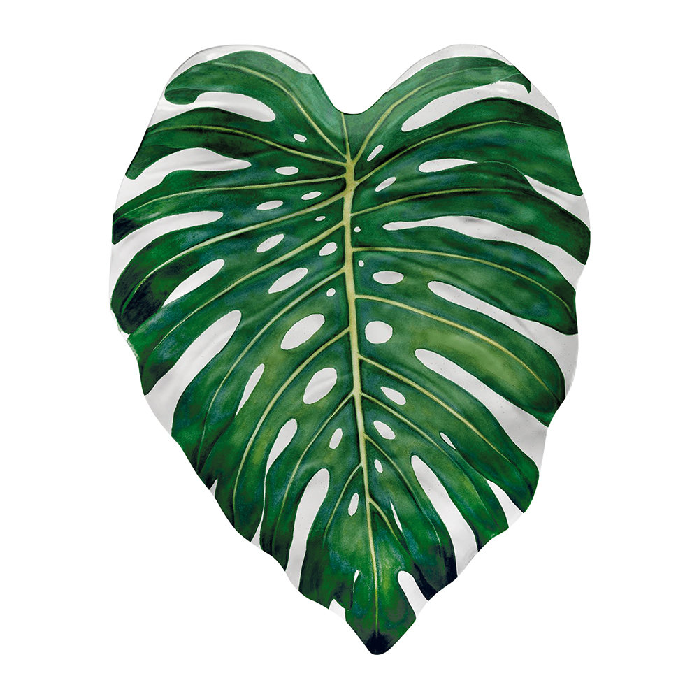 Epicurean - Amazon Floral Melamine Monstera Leaf Platter