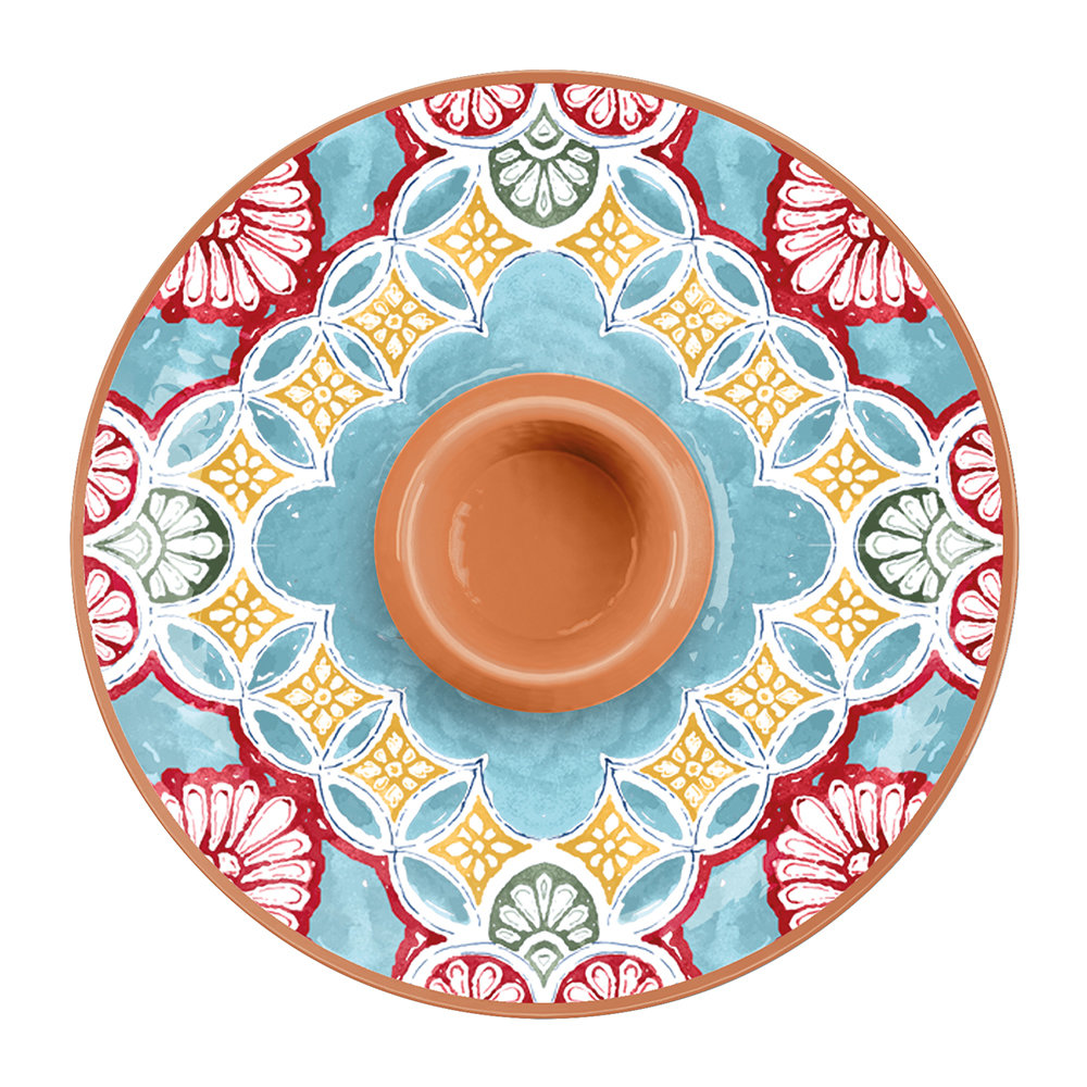 Epicurean - Rio Corte Melamine Chip and Dip Server