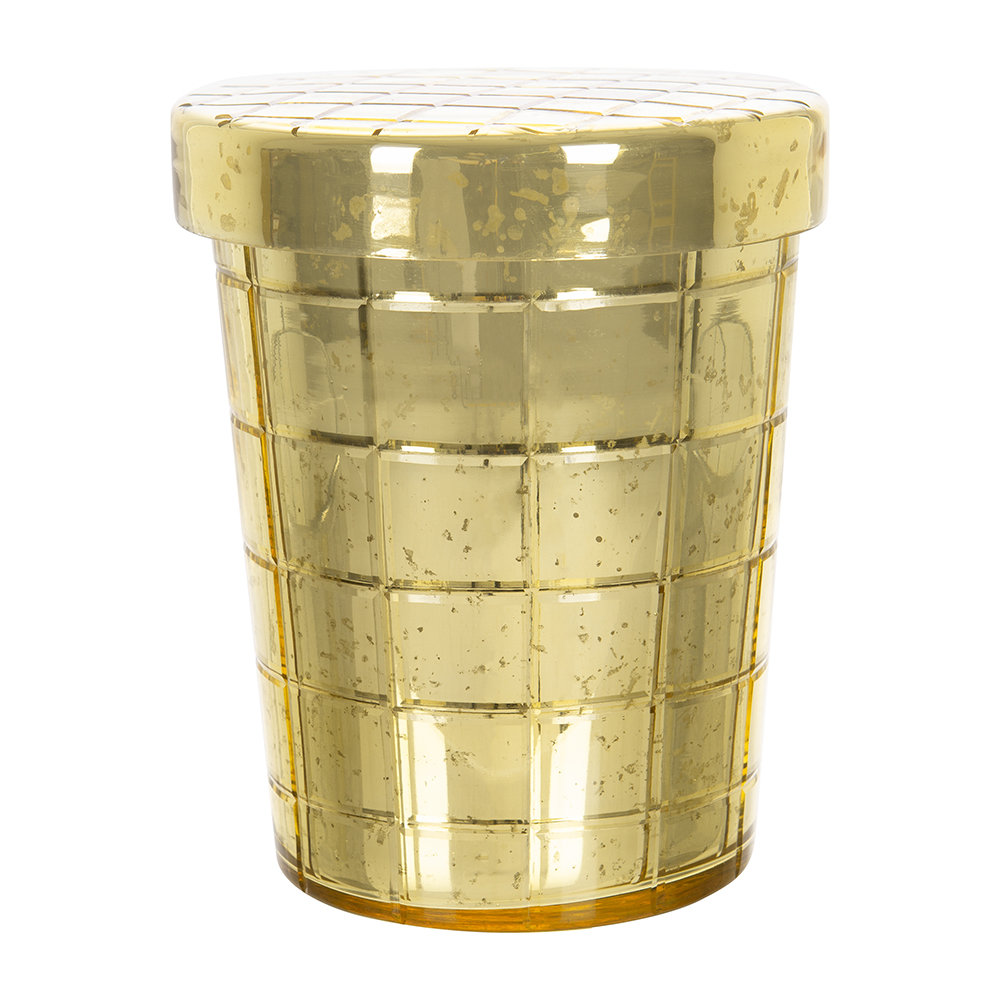 A by AMARA - Gold Cut Glass Scented Candle - Large