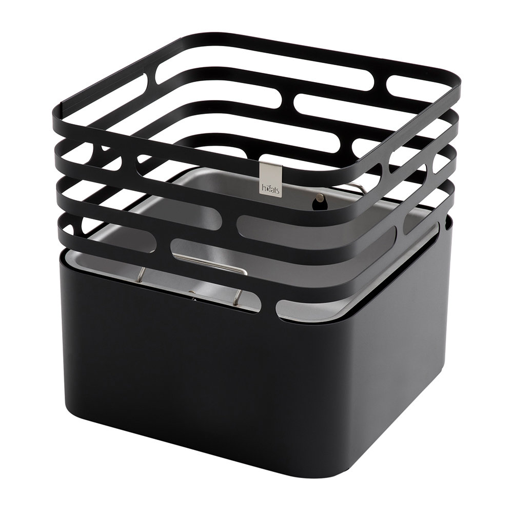 Hoefats - Cube Fire Basket - Black