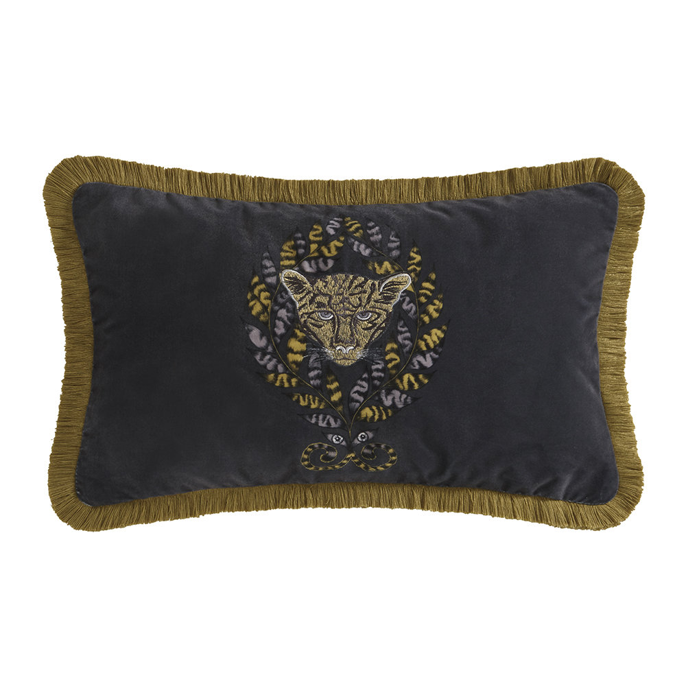 Emma J Shipley - Coussin Amazone - Gris Anthracite - 30x50cm