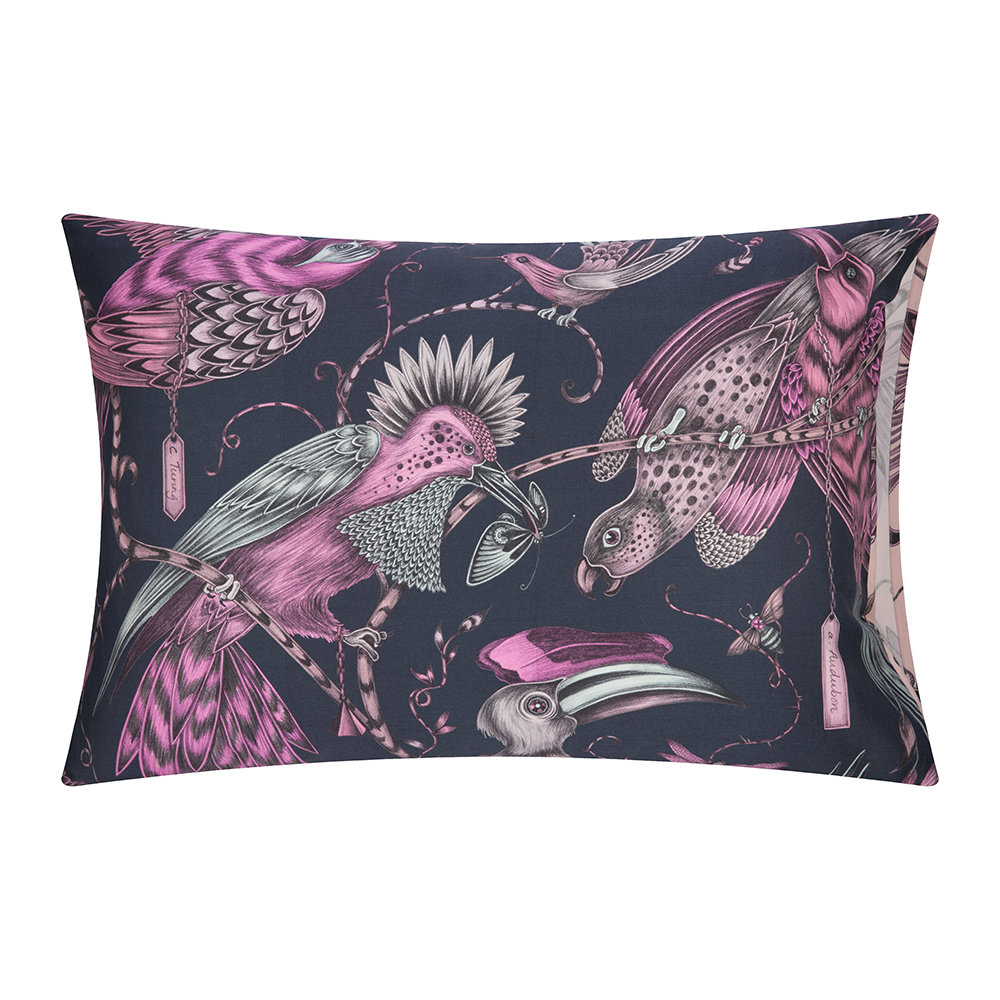 Emma J Shipley - Audubon Pillowcase - Set of 2 - Navy - 50x75cm
