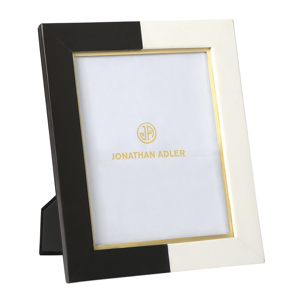 Jonathan Adler - Canaan Marble Photo Frame - Black/White - 8x10""