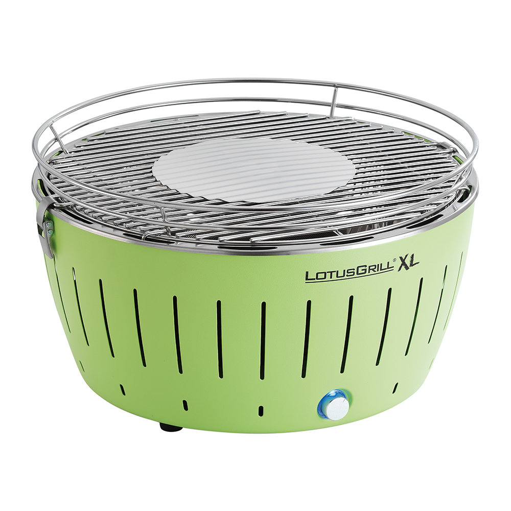 Lotus Grill - Portable Charcoal Grill - XL - Green