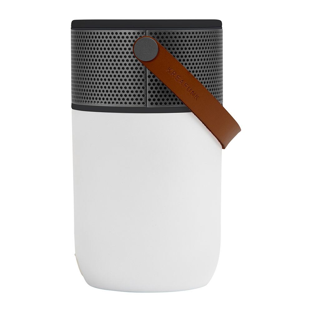 KREAFUNK - aGlow Bluetooth Speaker - White with Gunmetal Front