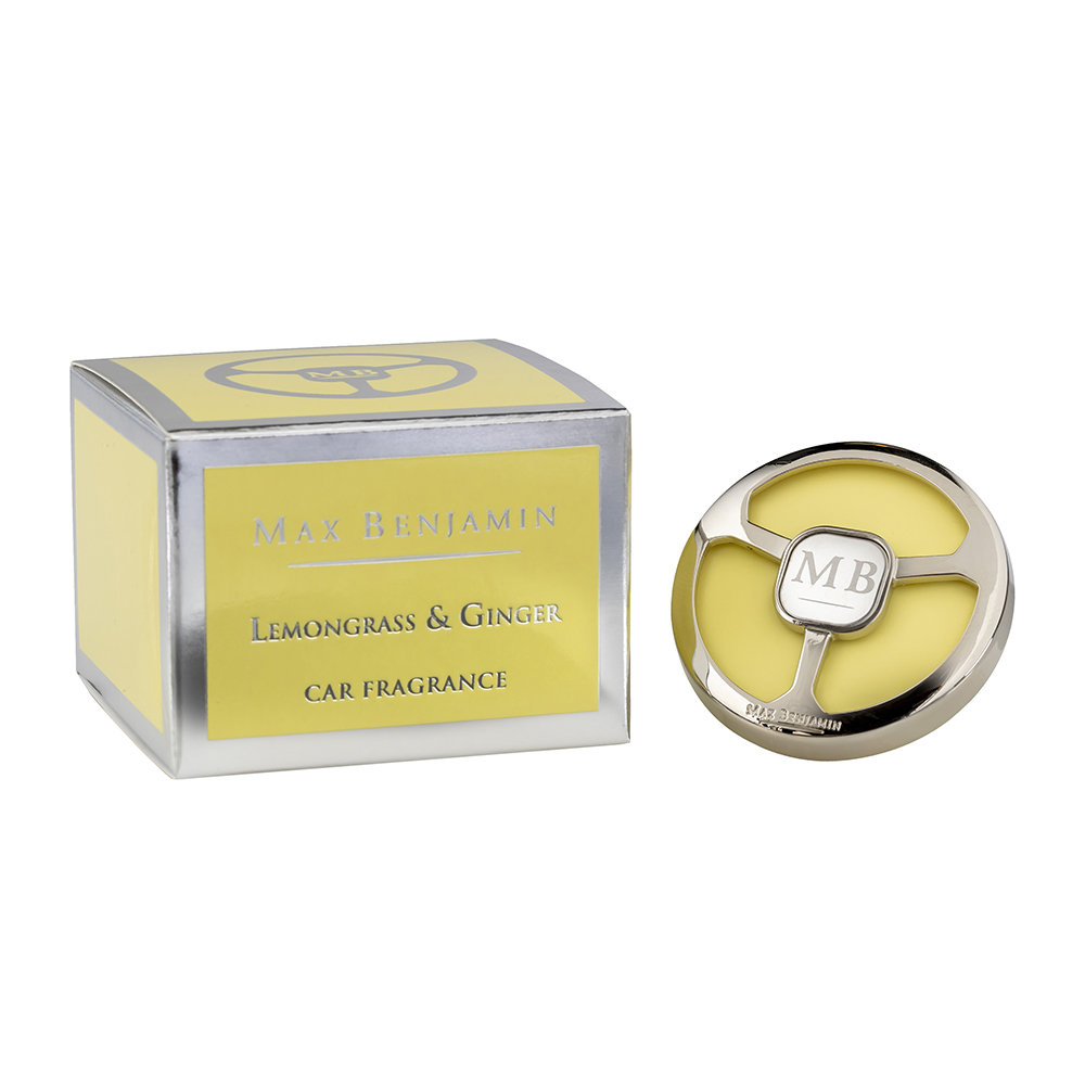 Max Benjamin - Classic Collection Car Fragrance and Refill - Lemongrass and Ginger