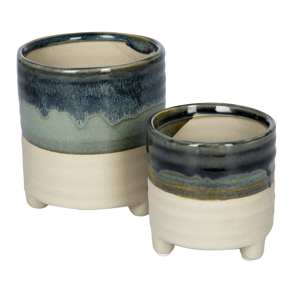 IvyLine - Milan Mini Plant Pots - Set of 2 - Blue